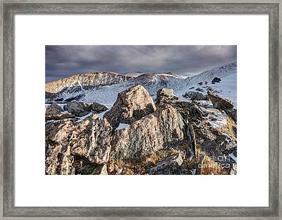 The Mount Evans Wilderness Framed Print by Andrew Terrill