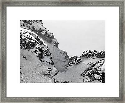 The Mountain Abyss Framed Print