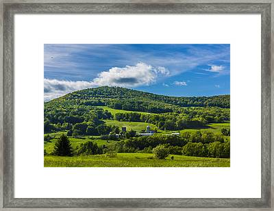 Framed Print featuring the photograph The Mountain And Sky Landscape by Paula Porterfield-Izzo