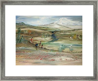 The Mountain Framed Print by Edward Wolverton