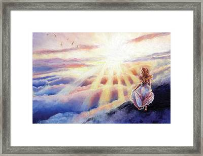 The Mountain Queen Page 12 Framed Print by Susan Jenkins