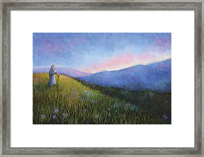 The Mountain Queen Page 6 Framed Print