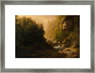 The Mountain Torrent Framed Print by Francis Danby