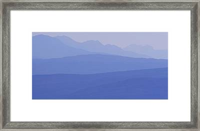 The Mountains Of Wester Ross At Dusk Framed Print