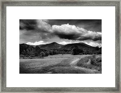 The Mountains Of Western North Carolina In Black And White Framed Print by Greg Mimbs