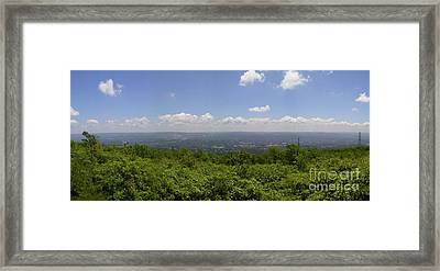 The Mountains Top View Panorama II Framed Print by Daniel Henning