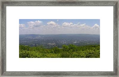 The Mountains Top View Panorama Xii Framed Print by Daniel Henning
