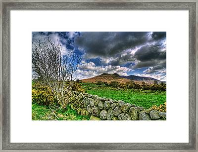 The Mournes Stone Walls Framed Print by Kim Shatwell-Irishphotographer
