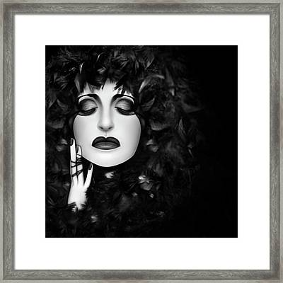 The Mourning - Self Portrait  Framed Print
