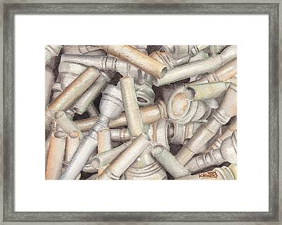 The Mouthpiece Jumble Experiment Framed Print by Ken Powers