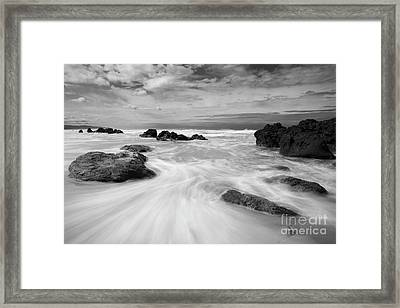 The Movement Of The Waves Framed Print