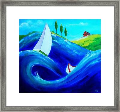 The Moving Ocean Framed Print
