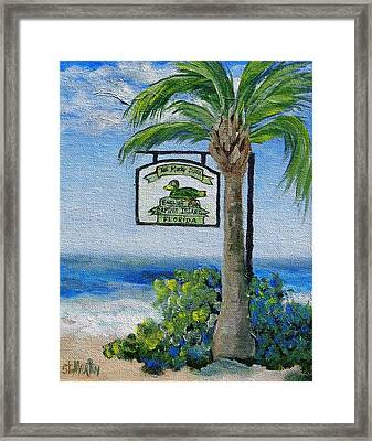 The Mucky Duck Captiva Island Florida Framed Print by Annie St Martin