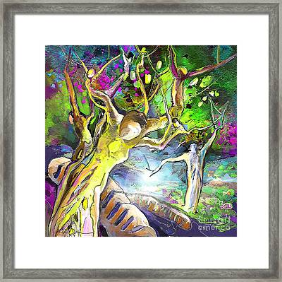 The Multiplication Of Bread Framed Print by Miki De Goodaboom