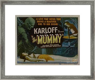 The Mummy 1929 Poster Boris Karloff Framed Print