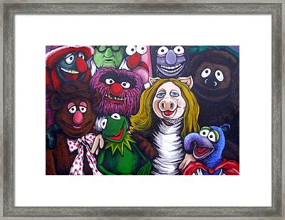 The Muppets Tribute Framed Print by Sam Hane