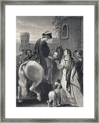 The Murder Of Edward The Martyr Circa Framed Print