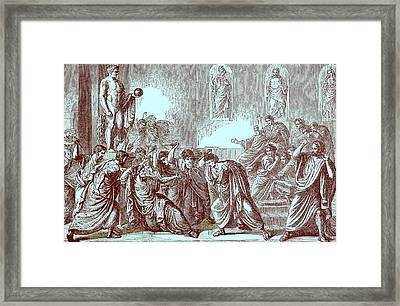 The Murder Of Julius Caesar Framed Print