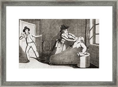The Murder Of Marat At The Hands Framed Print