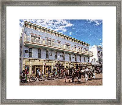 The Murray Hotel At Mackinac Island Framed Print by Rebecca Snyder