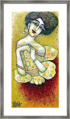 The Muse Of My 20's Framed Print by Albena Vatcheva