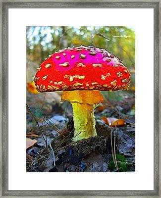 The Mushroom 17 - Pa Framed Print by Leonardo Digenio