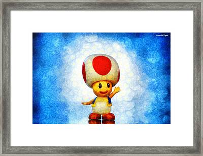 The Mushroom 56 - Pa Framed Print by Leonardo Digenio