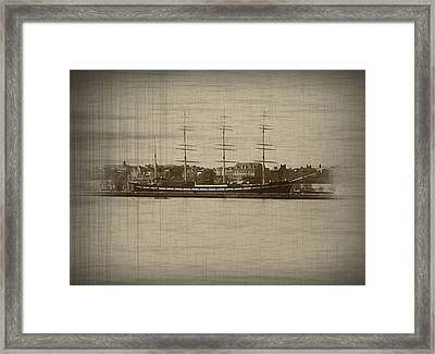 The Mushulu From The Camden Water Front Framed Print by Bill Cannon