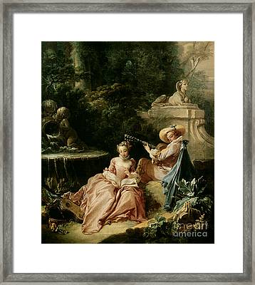 The Music Lesson Framed Print by Francois Boucher