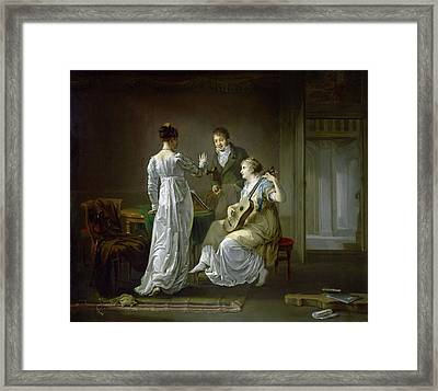 The Music Lesson Framed Print by MotionAge Designs