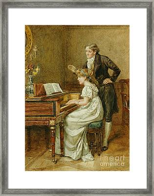 The Music Master Framed Print