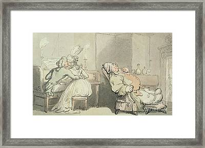 The Music Master Framed Print by Thomas Rowlandson