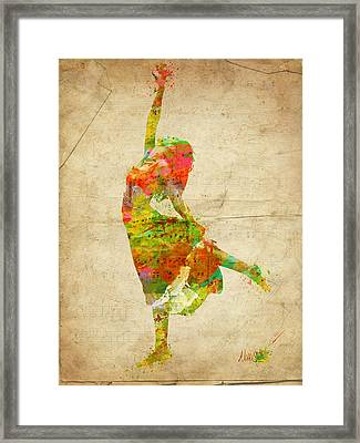 The Music Rushing Through Me Framed Print