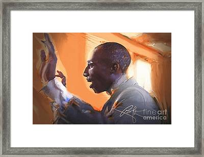 The Musical Director Framed Print by Bob Salo