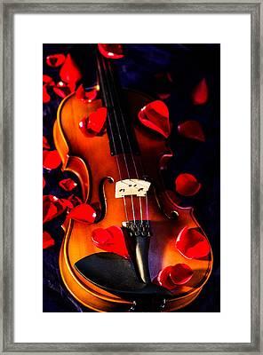 The Musical Rose Petals Framed Print