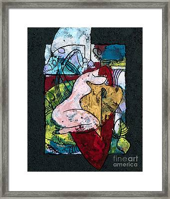 The Musician And Her Golden Tool Framed Print