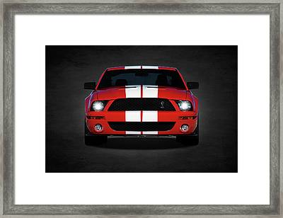 The Mustang Shelby Gt500 Framed Print by Mark Rogan