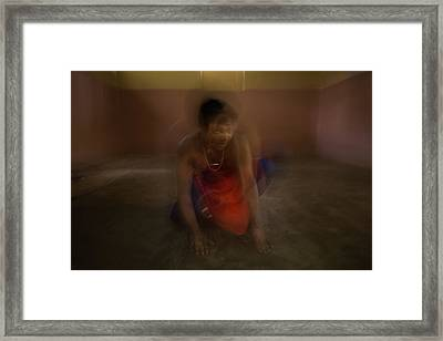 The Mutation Of The Dancer Framed Print by Lucas Dragone