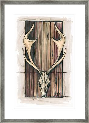 The Mute Framed Print by Krista Payne