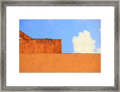 The Muted Cloud Framed Print