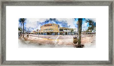 The Myrtle Beach Pavilion - Watercolor Framed Print
