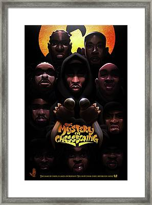 Framed Print featuring the digital art The Mystery Of Chessboxing by Nelson dedosGarcia