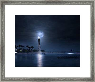 The Mystery Of Lighthouse Cove Framed Print