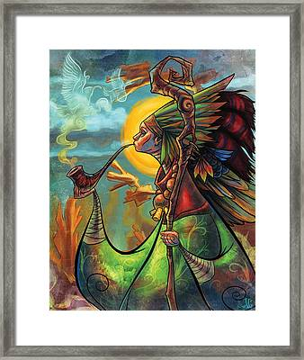 The Mystic Framed Print by Jayson Green
