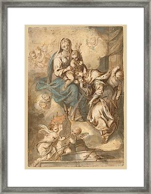 The Mystic Marriage Of Saint Catherine Framed Print