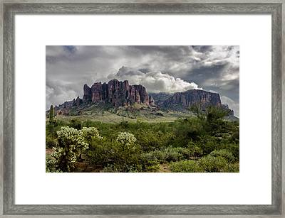 The Mystic Mountain  Framed Print