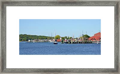 The Mystic Seaport Framed Print by Bill Cannon