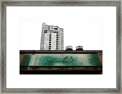 The Mystical Jade Mountains Framed Print by Kreddible Trout
