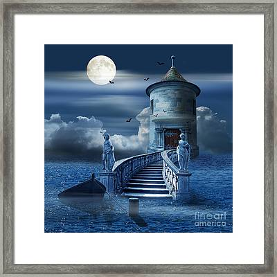 The Mystical Place At Sea Framed Print by Monika Juengling
