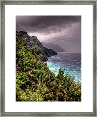 The Na Pali Coast Framed Print by Natasha Bishop
